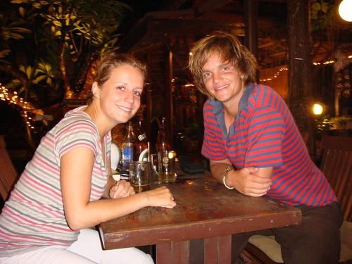 Sara (Montreal) and I at Tony's Place in Ayutthaya.