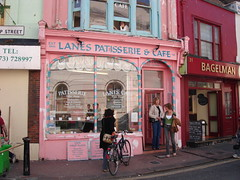 cutest bakery in brighton (lobster and swan) Tags: pink cute cake brighton bakery