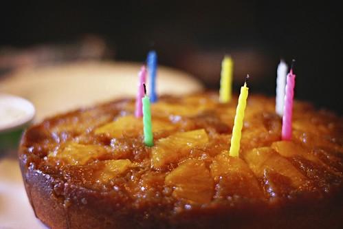 Pineapple Upside Down Birthday Cake