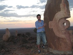 121 the Living Desert sunset (Parkaboy) Tags: sunset summer sculpture art rock stone bush dusk matthew horizon australia newsouthwales outback remote aboriginal shape distance scrub brokenhill livingdesert asfarastheeyecansee barrierranges sculpturesymposium bajoelsoljaguar sundownhill underthejaguarsun