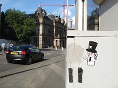 Voodood in Nottingham (riot68) Tags: bear nottingham uk england up graffiti sticker character stickers vinyl slap graff peel voodoo ips slaps notts eville riot68 voodood
