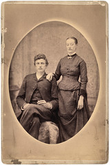 vintage portrait of victorian couple, great-great-grandparents (deflam) Tags: family portrait woman man black vintage dark studio couple dress victorian suit relatives familyphotos greatgreatgrandparents vintagefamily gilmer