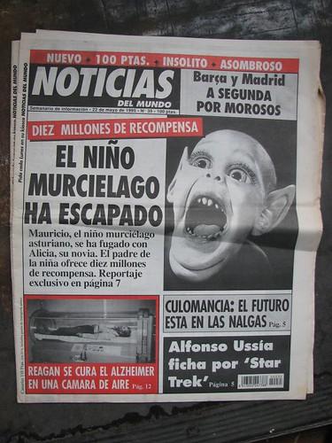 """Habia un """"periodicucho"""" divertido que se llamaba Noticias Del Mundo...Portadas de 'Weekly World News' 511893790_8c4b6574ed"""