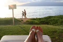 feet at sunset (day 128 reject) (TeeRish) Tags: sunset feet hawaii maui lahaina kaanapali putyourfeetup futab 220inexplore asof1508bizarre