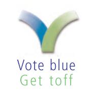 VOTE BLUE...