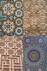 Mosaics and wall carvings (hannahgrrrl) Tags: cactus market tea mosaic minaret el morocco maroc marrakech seafood souk marrakesh barbeque escargot essaouira moroccan sidi embarque kebabs fna marjorelle fnaar djemaa