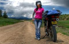 Silvia by the DR650 (Buggs' Photography) Tags: colorado silvia rides globalvillage buggs dr650 globalcity invitedphotosonly gvadminshalloffame itsabeautifulgv