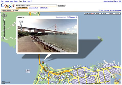 street-level photos in Google Maps!