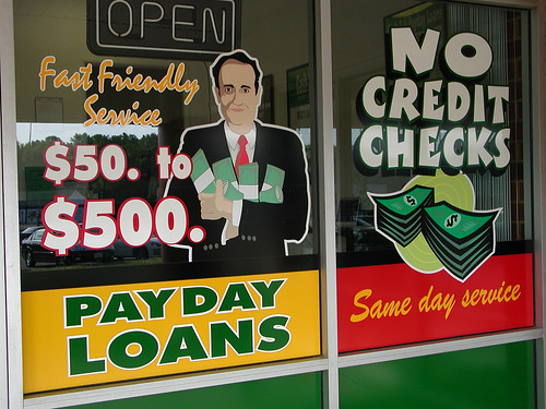 Payday Loan Place Window Graphics