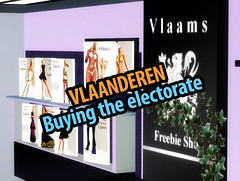 Vlaanderen Second Life: buying the electorate (agent case freebies)