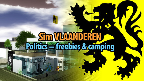 Vlaanderen Second Life: politics is about freebies and camping