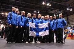 The Team (rolleh) Tags: finland quebec action flag taekwondo worlds worldchampionship nationalteam mm07 ismomkinen pauliinaheiskanen
