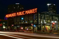 Milwaukee Public Market (MalaneyStuff) Tags: mkedusknov202016 milwaukee 3rdward thirdward market publicmarket milwaukeepublicmarket d5100 nikon usa wisconsin night lights