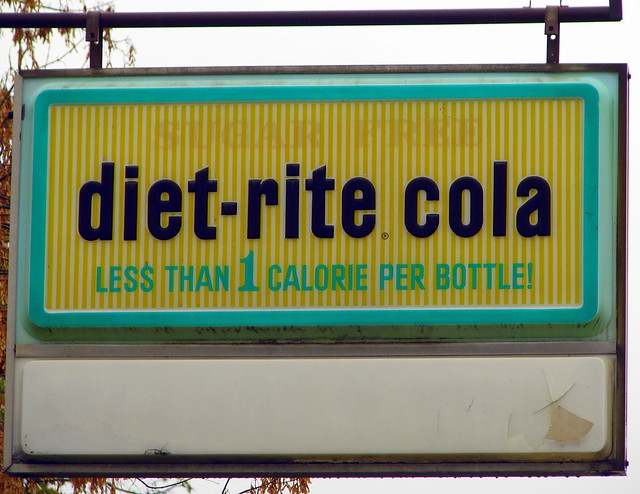 Old Diet Rite Cola sign