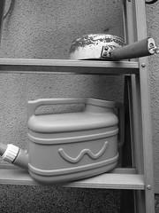 Watering pot, pot on stepladder (matsuyuki) Tags: pot wateringcan stepladder wateringpot