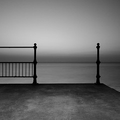 Clevedon Railings (Adam Clutterbuck) Tags: uk england blackandwhite bw seascape monochrome square landscape mono coast blackwhite post somerset bn minimal severn coastal shore elements promenade blogged seafront bandw posts simple sq railings limitededition clevedon northsomerset distilled simplified greengage accepted1of100bw adamclutterbuck sqbw bwsq ambientlightgroup showinrecentset shortedition le50 limitededition50