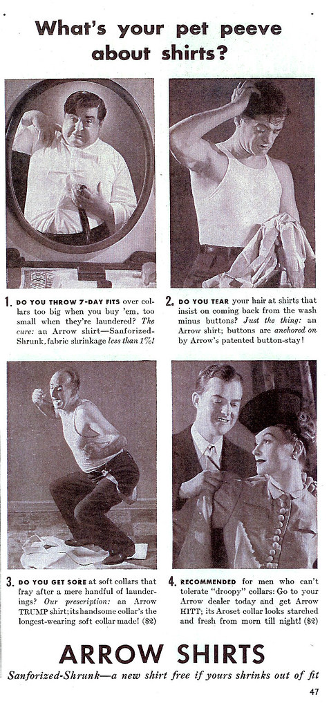 Vintage Ad #211 - What's Your Pet Peeve About Shirts?