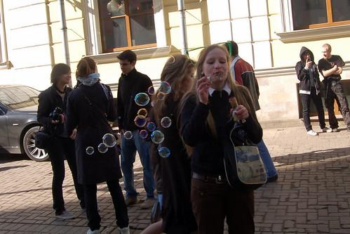 пузыри в тени