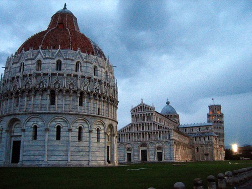 Campo dei Miracoli, Pisa.  I think I may have accidentally straightened the tower a bit...
