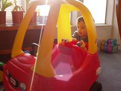 Elmo Behind the Wheel
