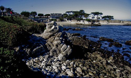 View toward Pacific Grove's Town Beach---3472LR