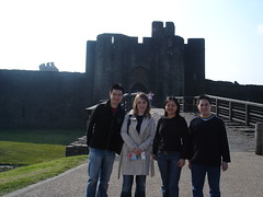 Entrance of Caerphilly Castle