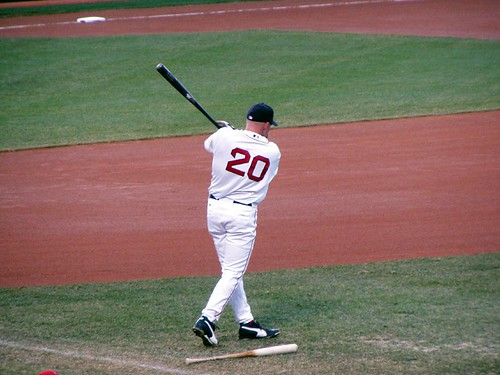 Youkilis practices his swing