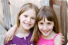 Amigas (zubillaga61) Tags: portrait photoshop children retrato nias retouch