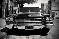 cadillac (razorbern) Tags: sanfrancisco california bw forsale cadillac 1964 mission car