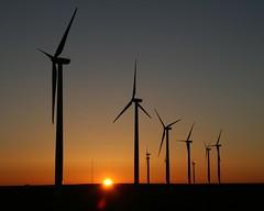 Weatherford Wind Farm Sunrise - explore (Marvin Bredel) Tags: oklahoma windmill sunrise explore marvin windfarm windturbines weatherford abigfave marvin908 bredel marvinbredel