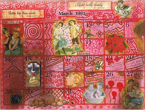 Altered Calendar March Bottom
