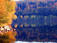 Indian Summer reflections at sunset 2