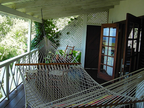 The front porch of a Ti Kaye cabana