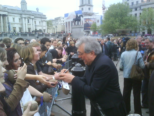 Terry Jones signs autographs