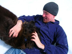 Jesse & Ber 2 (margaret.metzler) Tags: family winter dog pets snow animals jesse spring maine ber