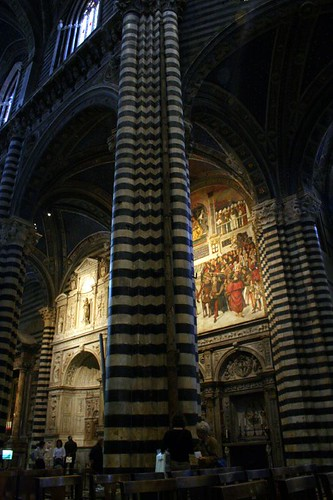 Duomo Interior with a stick that held Florence's standard