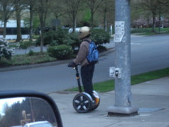 Segway user
