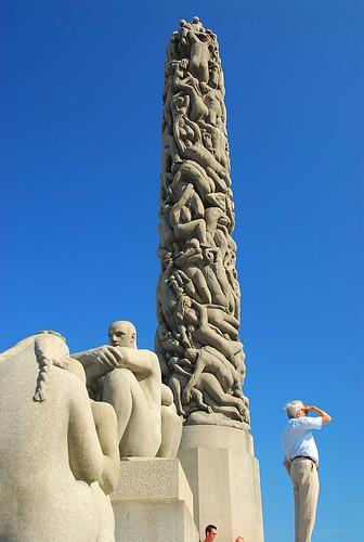 Vigeland Sculpture park Oslo por Trampelman.
