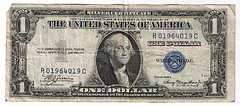 1935 series A silver certificate US dollar