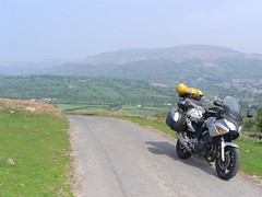 CBF600 in it's element - the twisty single roads of Wales