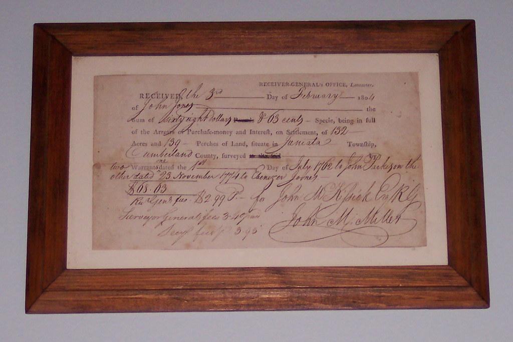 Land receipt 1804