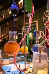 lab (*maya*) Tags: lab experiment science bunsen laboratorio scientist scienza esperimento scienziato fiale ampolle museodelcinemaditorino