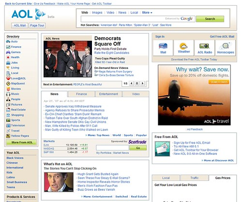 AOL's recent redesign