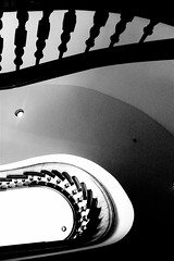 Winding Staircase (spinadelic) Tags: blackandwhite bw house stairs state historic staircase winding arkansas stevespencer