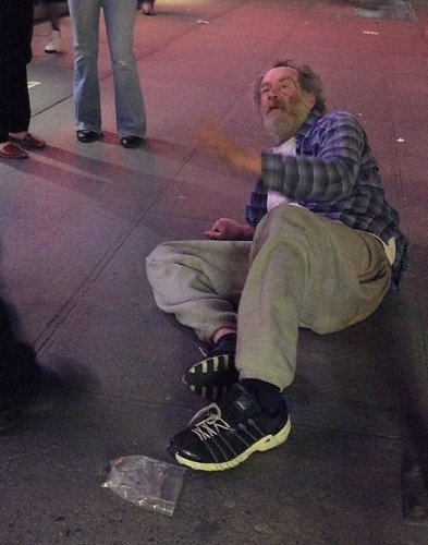 Inebriated Homeless Man, Interacting with Police