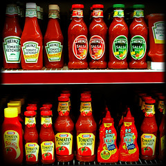 Heinz vs Kraft (Metabisulfide) Tags: camera red color colour art colors mediumformat tomato square rouge colours ketchup couleurs tomates squareformat medium format vs tomatos heinz tomate tomaten couleur versus kraft 10faves metabisulfide 24hoursofflickr