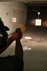 (chadmiller) Tags: gun florida explosion pistol firing 9mm gunrange altamontesprings hkuspcompact ref:person=nr