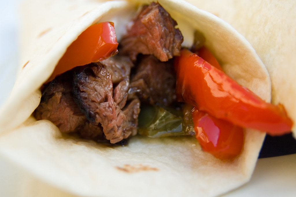 Grilled Skirt Steak Fajitas with Mexican Rice
