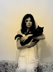 My Rolo (horriblecherry) Tags: black strange dark kitty rolo meandmypussycat