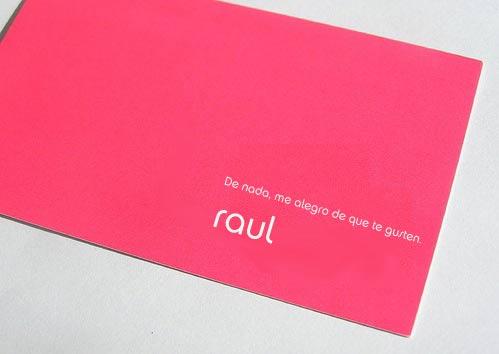 Tarjeta de visita de Raúl de deprisa.net